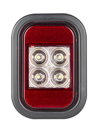 133WMG - Reverse Light with Reflector, Rectangle. Multi-volt Single Pack. AL. Ultimate LED.