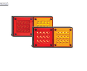 280ARM - Stop Tail Indicator Double Light. Multi-volt Single Pack. AL. Ultimate LED.