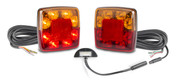 98BARLP2/10 - Stop Tail Indicator light with Reflector and Licence Plate Light, 10m cable Kit.  12v Twin pack. AL. Ultimate LED.