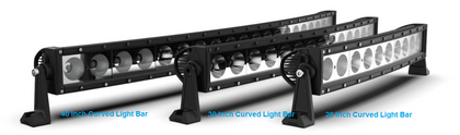 Curved Light Bar 30 Inch, Roadvisons DCSX Series, Combination Optical Beam
