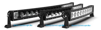 Curved Light Bar 40 Inch, Roadvisons DCSX Series, Combination Optical Beam