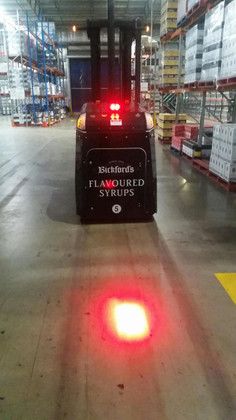 Warehouse Forklift Safety Red Spot Beam. Ultimate LED