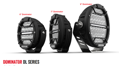 Dominator DL Series.  7 inch Driving Light with Daytime Running Lights. 7 Year Warranty