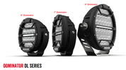 Dominator DL Series.  9 inch Driving Light with Daytime Running Lights. 7 Year Warranty