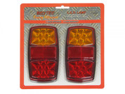 LED Stop, Tail, Indicator and Reflector. BR206LR.  - IDEAL FOR TRAILER (PAIR) 12V DC