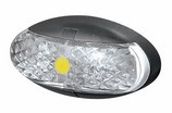 Roadvision Side Marker, Clearance Light. BR2 Series Amber. Chrome and White Base Available. Ultimate LED