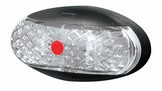 Roadvision Rear Marker - Red Marker LED Light. 2.5m Wiring Harness. Chrome and White Base Available. Ultimate LED