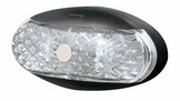 Brytec Side Marker, Clearance Light. BR2 Series White with 2.5 m of Cable Chrome and White Base Available