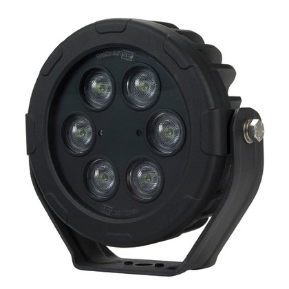 Work Light Flood Beam. 180 mm Round. LED60F. 48 Watt. Submersible Water Rating: IP68. Submersible to 3 Metres