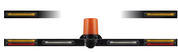 This Mine Light Safety Bar is fitted with the following - Stop, Tail, Indicator – Front and Rear, Reverse Light, (LED) Safety Amber Beacon (Class 1 - LED) with a Back Up Alarm System. ADR Approvals with 5 year warranty
