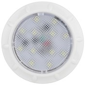 IL70 - Interior & Exterior LED Light. Round. 12V. White Bezel. Single Pack. RV. Ultimate LED