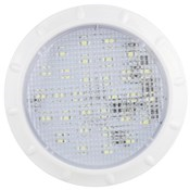 IL100 - LED Interior & Exterior Light. 150 Lm. White Bezel. Round. 12V. Single Pack. RV. Ultimate LED