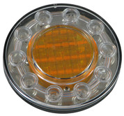100mm Indicator Light. LED's are Amber in the inner and outer of the light.