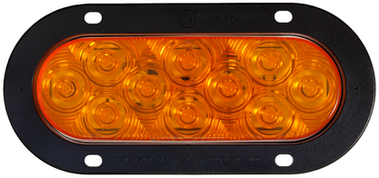 Quality LED Indicator Lamp. Peterson USA – Made in the USA. Oval – Flush Mount with Flange Mounting. New LumenX Range