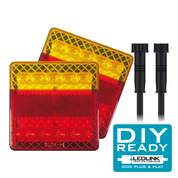 LED Tail Light DIY Kit. 12 Volt Suit Box Trailer 8 x 5. Plug and Play System.