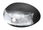 Brytec Front Marker, Clearance Light. BR3 Series White - Box of 10. 2.5m Cable Chrome and White Base Available
