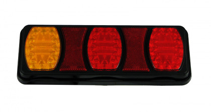228RV. Compact LED Tail Light. Stop, Tail x 2, Indicator Lamp with built-in Reflectors. Quality, Tough Light. Caravan Friendly. Multi-Volt 12 & 24 Volt Systems. BR100ARR. Triple Module LED Light.  Truck, Trailer, Ute or Caravan Tail Light Assembly. Built-in Reflector. Great Quality Tail Light. Weather, Vibration and Dust Proof. Ultimate LED