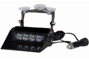 White Dash Mount, Front Screen Suction Cup Mount Strobe Module. Very Bright. Ultimate LED Australia.