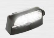 41BLM - Licence Plate Lamp Light with Black Base. Multi-volt Single Light Pack. AL. Ultimate LED.