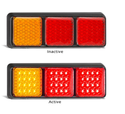 282ARRM - Stop Tail and Indicator, Single Pack, Multi-volt 12-24v. AL. Ultimate LED.