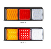282ARWM Stop, Tail, Indicator, Reverse Light. Single Light Pack Multivolt 12-24v.