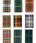 Edinburgh Plaid Polyester Tartan Ribbon (No Wire Edge)