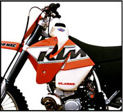 Clarke Racing Fuel Tank KTM 2 Strokes 250/300/380 (1999-2002) EXC and MXC models. 3.5gal. (11402)