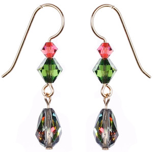 Special Effects Crystal Earrings with Vintage Swarovski