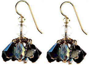 Cluster Earrings offer a shorter earring that is still packed with colorful Swarovski Crystals. Handmade by Karen Curtis NYC