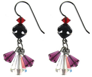Swarovski crystal triple drop earrings Amore collection