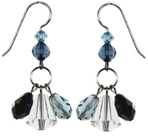 Swarovski crystal resort jewelry collection earrings.  Designed by Karen Curtis NYC