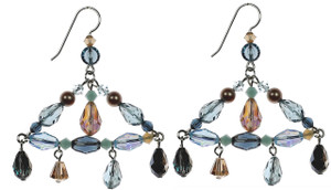 Swarovski crystal chandelier earrings from the Resort Collection by Karen Curtis NYC