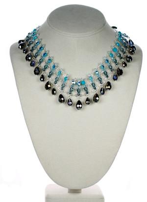 Swarovski crystal glamour necklace by Karen Curtis NYC