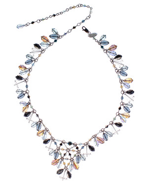 Resort Jewelry collection Swarovski crystal V-necklace by Karen Curtis NYC