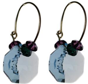 Dazzling blue crystal earrings by Karen Curtis NYC
