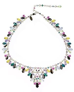 colorful swarovski crystal necklace by Karen Curtis NYC
