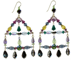 Chandelier Earrings made with rare swarovski crystal by Karen Curtis NYC