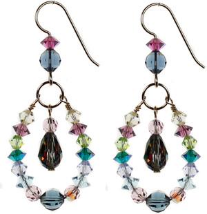 Colorful swarovski crystal earrings by Karen Curtis NYC