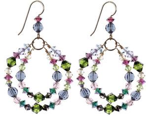 Double hoop earrings by Karen Curtis NYC.
