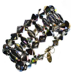 Rare Swarovski Crystal Cuff Bracelet by The Karen Curtis Jewelry Company in NYC