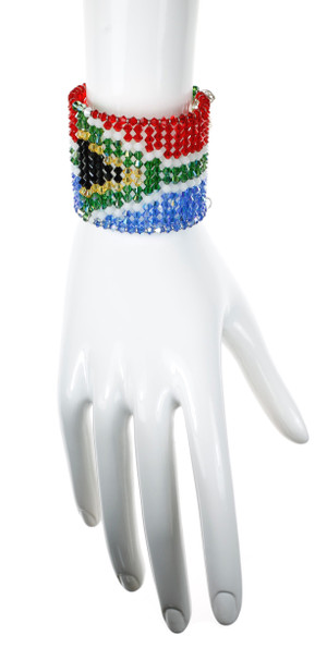 Designer Jewelry with Flag of South Africa Pattern in Crystals from Swarovski