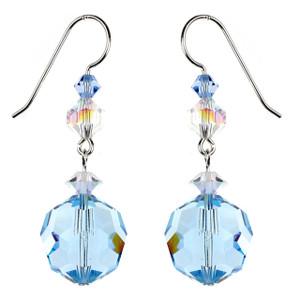 14mm blue drop earrings by Karen Curtis NYC