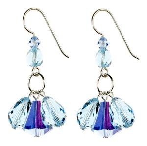 Blue Triple Drop Earrings