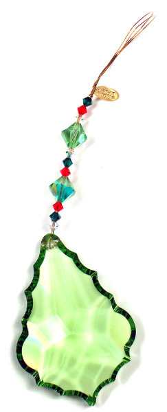 Christmas Leaf Ornament / Sun Catcher