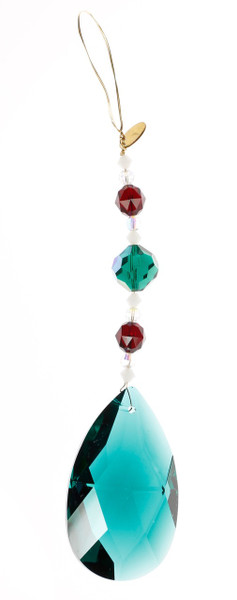 Emerald & Red Christmas Ornament / Sun Catcher