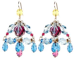 Colorful Chandelier Earrings - Tiffany
