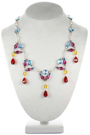 Colorful Divine Style Crystal Necklace - Tiffany