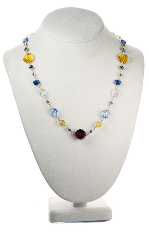 Colorful Single Strand Necklace - Tiffany