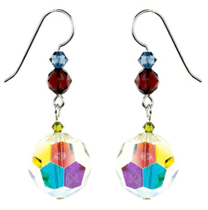 Vintage Jonquil Crystal Earrings - Botanical Jewelry