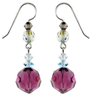 Purple Amethyst Earrings - Seaside Jewelry Collection